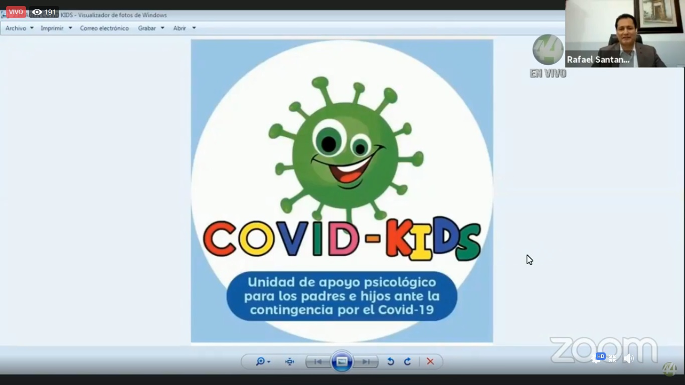 Identidad grafica webinar Covid-kids