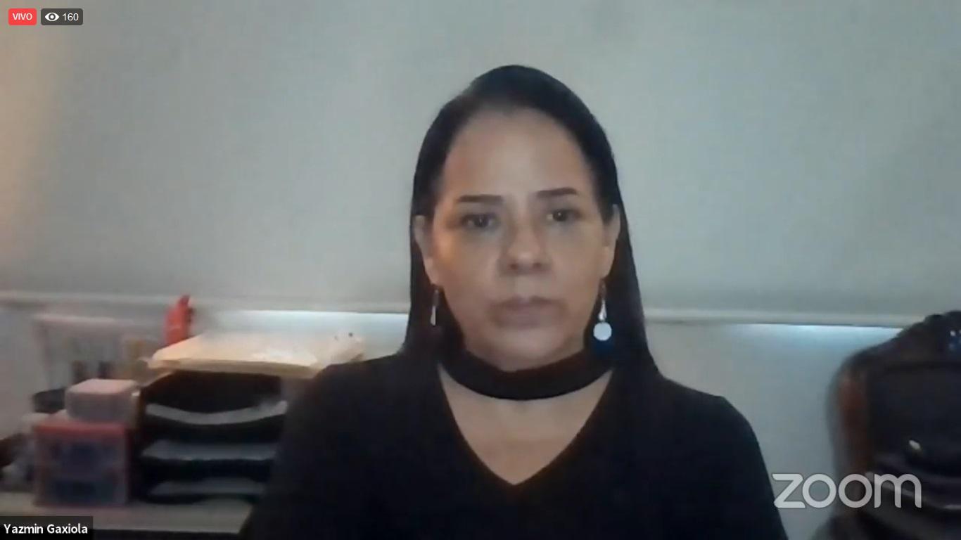 La maestra Yazmín Evelia González Gaxiola, académica del Departamento de Clínicas de la Salud Mental, del Centro Universitario de Ciencias de la Salud (CUCS)
