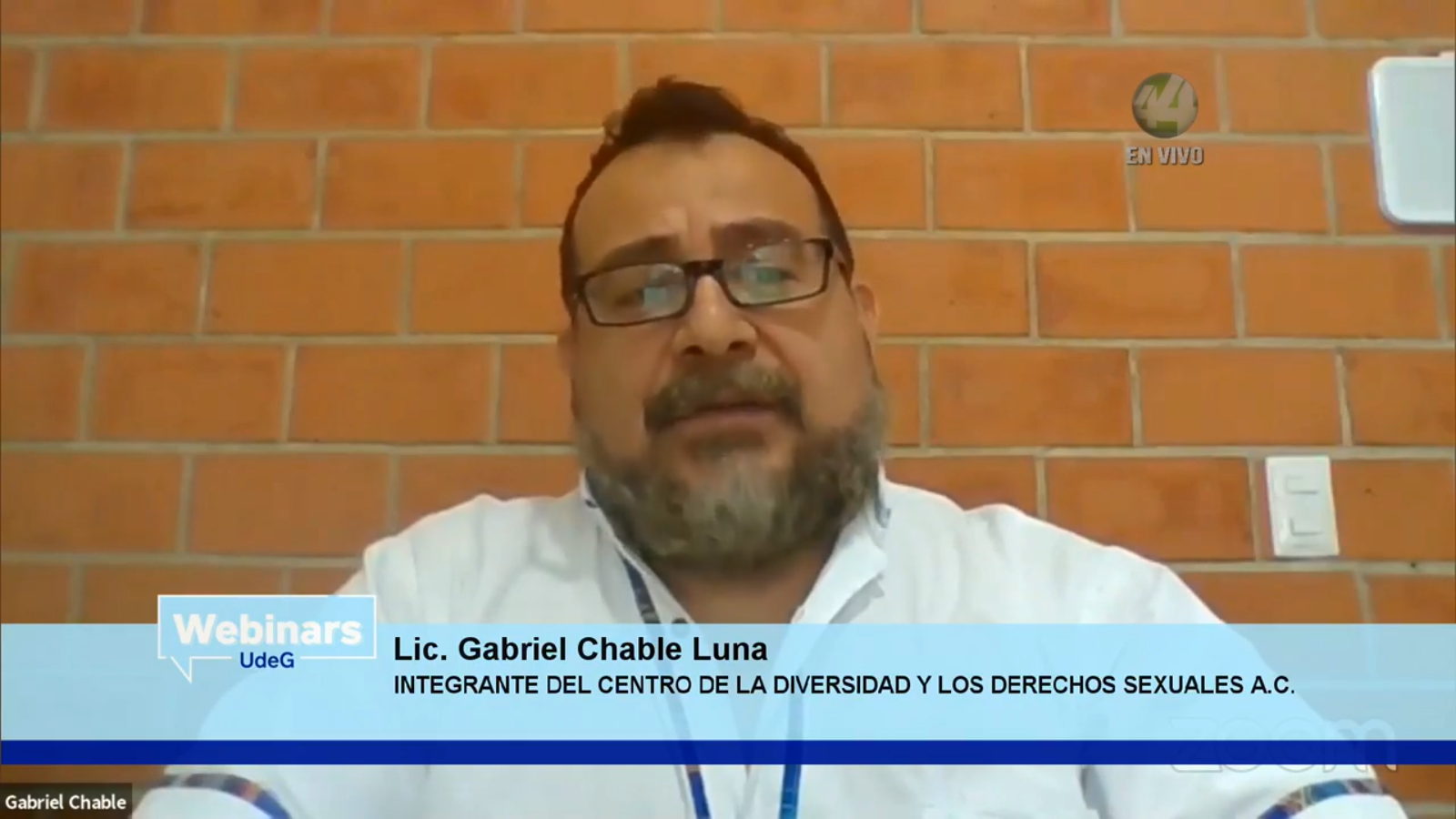 El licenciado Gabriel Chable Luna, integrante del Centro de la Diversidad y los Derechos Sexuales, AC
