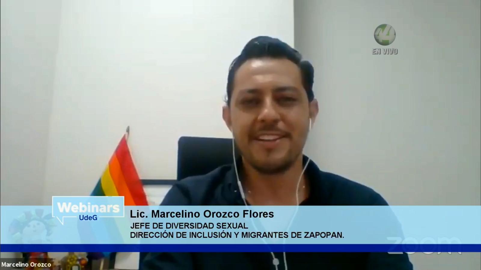 El Jefe de Diversidad Sexual, de la Dirección de Inclusión y Migrantes de Zapopan, Marcelino Orozco Flores