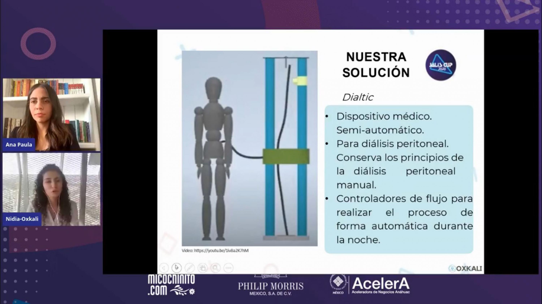 Diapositiva del proyecto Oxkali Salud, fundado por una estudiante de CUCEI