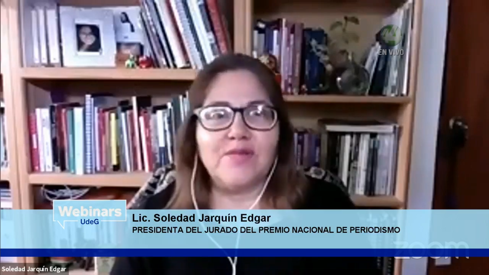 """Participantes del webinar """"COVID-19: Periodismo en tiempos de pandemia"""""""