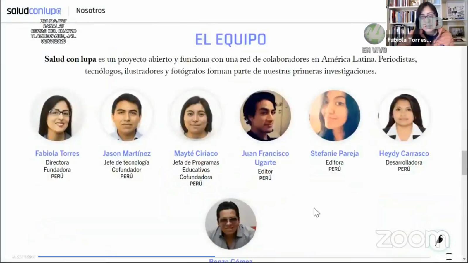 """Diapositivas del webinar """"COVID-19: Periodismo en tiempos de pandemia"""""""