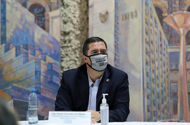 El presidente de la Cámara de Comercio de Guadalajara, Xavier Orendáin de Obeso