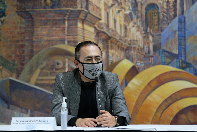 El doctor Jaime Federico Andrade Villanueva, director de los Hospitales Civiles de Guadalajara