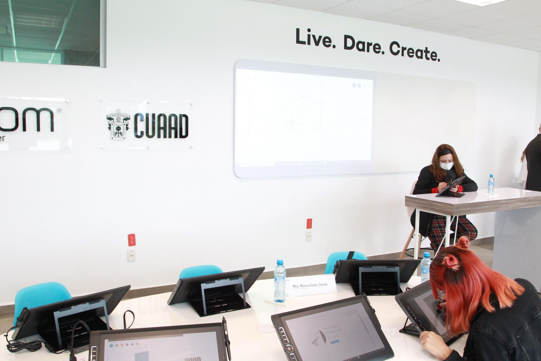 Está equipado con pantallas con tecnología de punta para la creación de diseños, animaciones, edición y desarrollo móvil