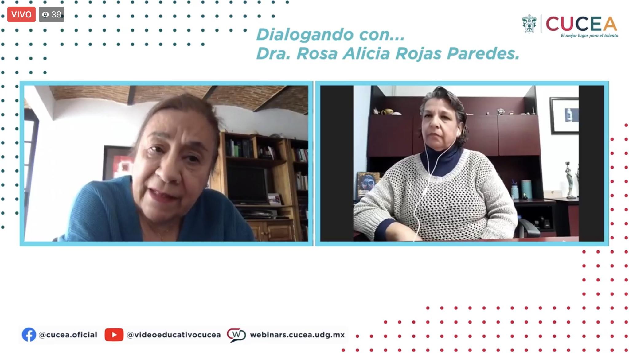 """La Coordinadora de la cátedra participó en la serie """"Dialogando con…"""", del CUCEA"""