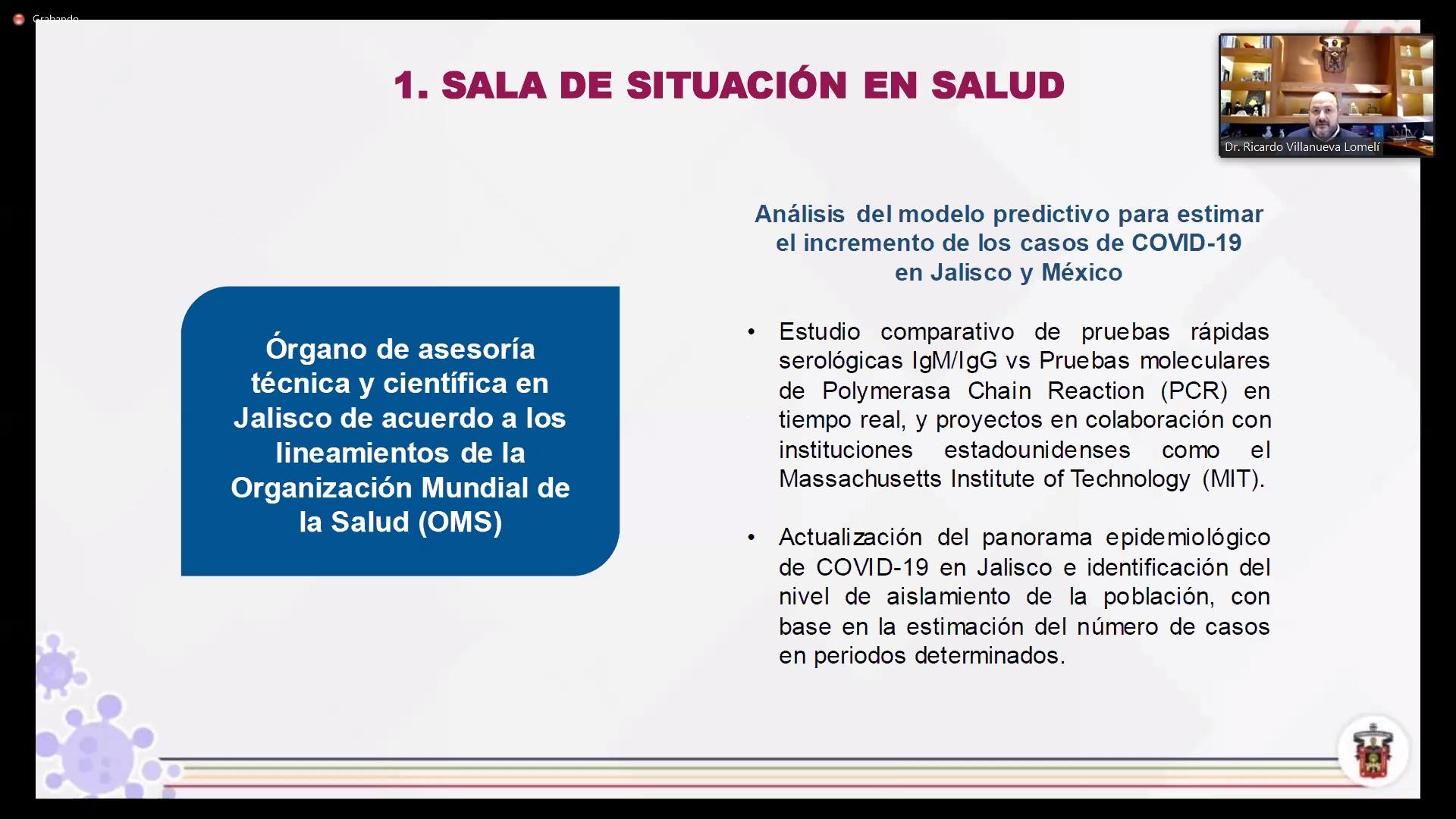 """Inicia simposio """"Modelo e intervenciones epidemiológicas: Estrategias ante COVID-19"""", organizado por la Sala de Situación en Salud del CUCS"""