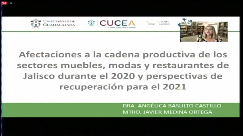 Académicos del CUCEA analizan los efectos económicos del COVID-19 en dichos rubros durante 2020
