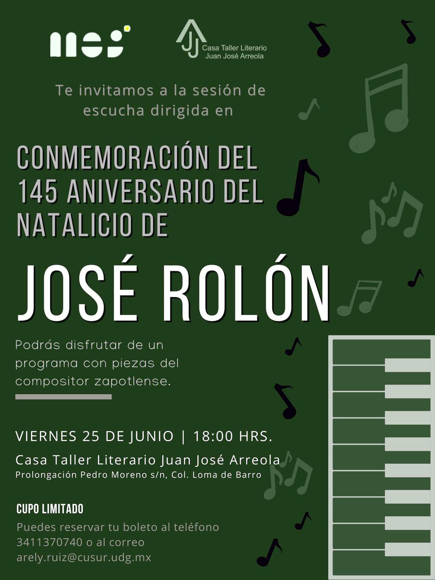 Conmemoración del 145 aniversario del natalicio de José Rolón
