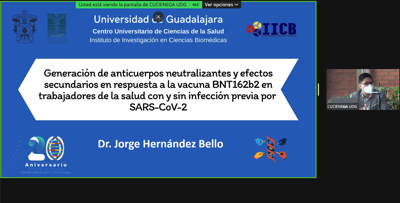 Inauguran actividades para los festejos por el 20 aniversario del El Instituto de Investigación en Genética Molecular del CUCiénega