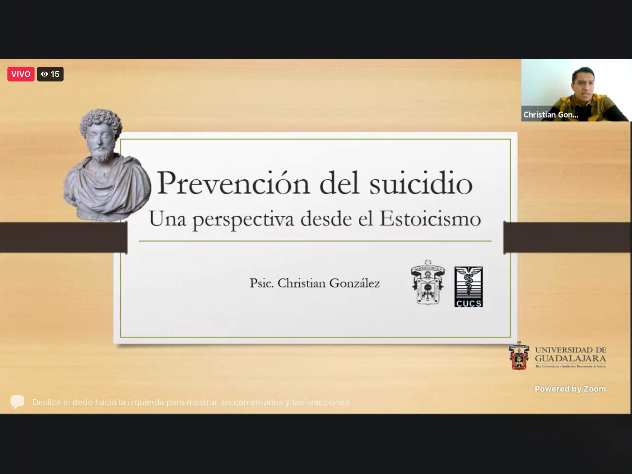 """CUTonalá realiza el webinar """"Prevención del suicidio, una perspectiva desde el estoicismo"""""""