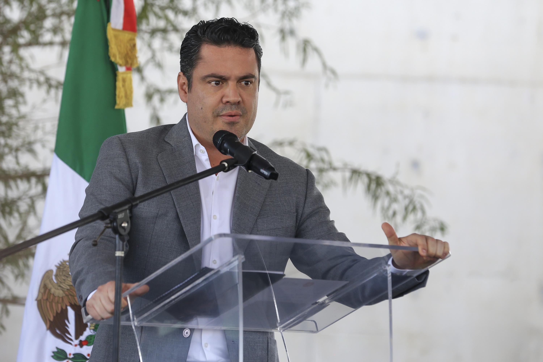 Gobernador de Jalisco, maestro Jorge Aristóteles Sandoval, haciendo uso de la palabra durante la inauguración del CReCE