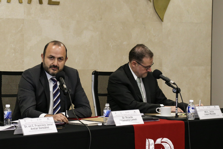 Rector General Electo de esta Casa de Estudio, Doctor Ricardo Villanueva Lomelí, participando en la sesión ordinaria de la ANUIES