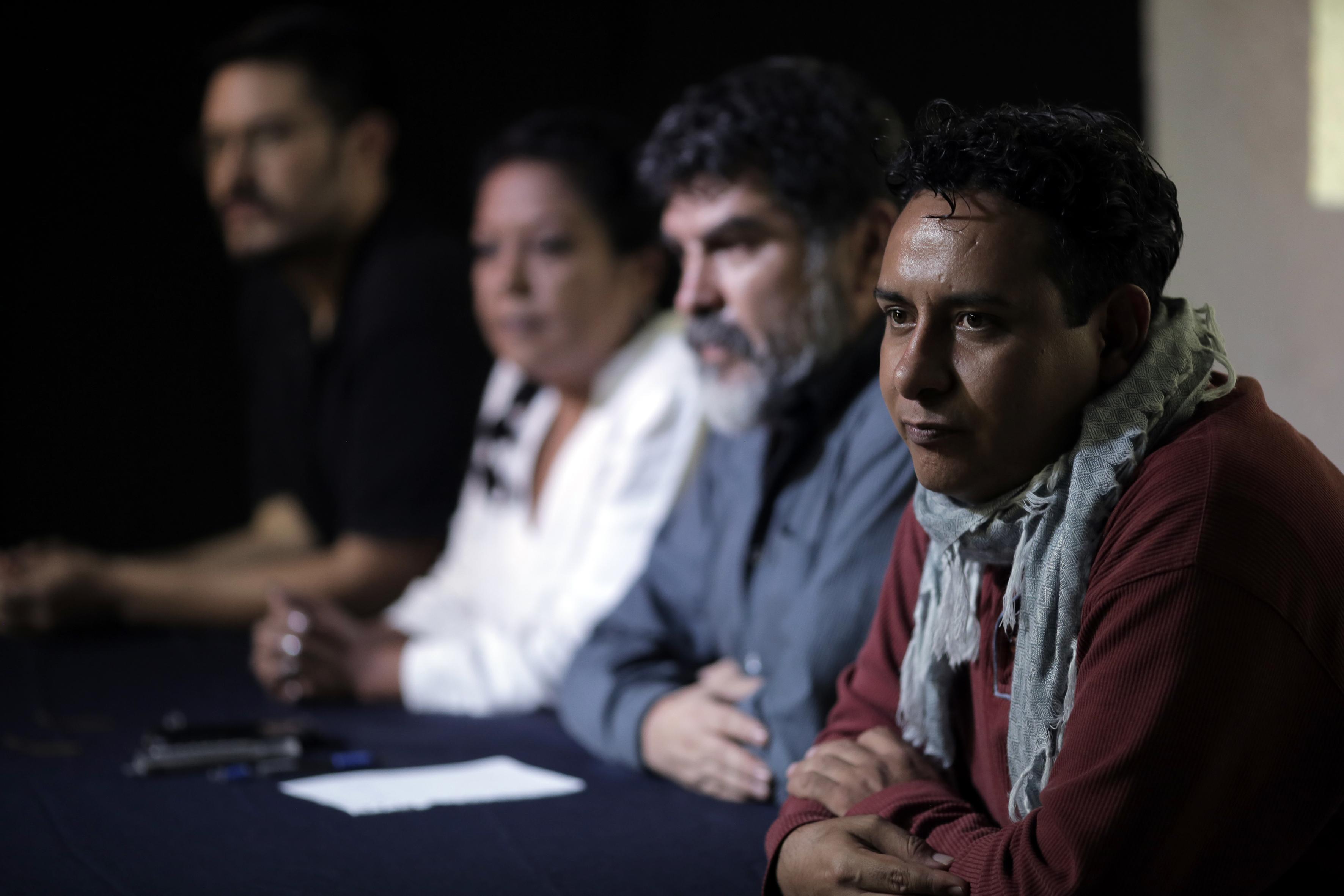 """Rueda de prensa, para confirmar detalles del """"Encuentro Internacional de Teatro Universitario (IETU)"""", próximo a efectuarse."""
