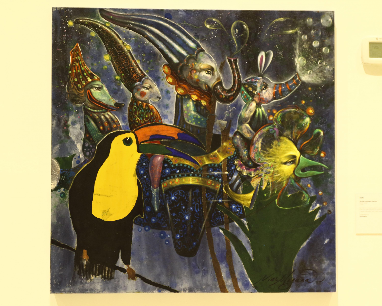 Las obras pictóricas fueron intervenidas por artistas profesionales y el tema de las piezas era la naturaleza