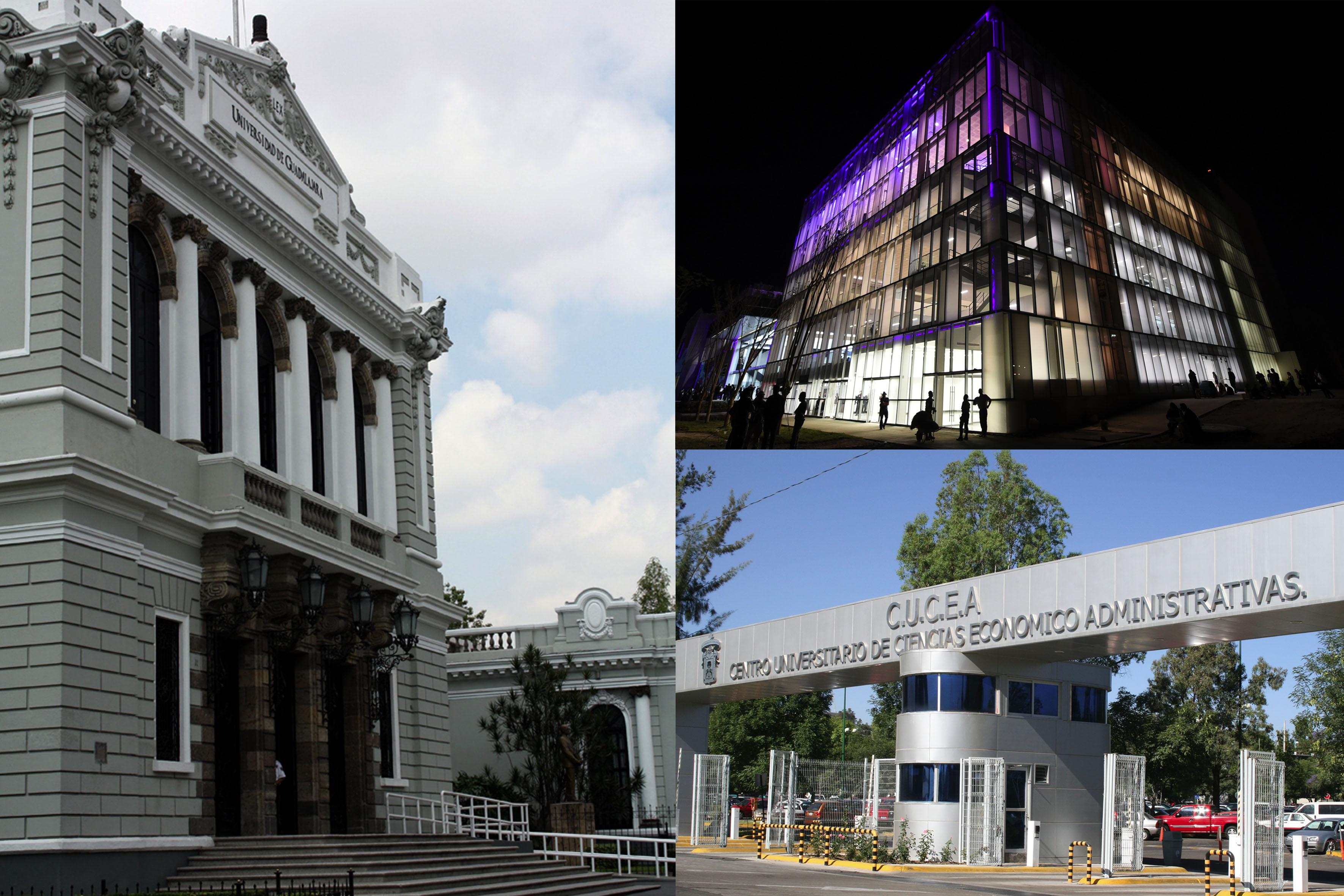 Fotocomposición de las sedes donde serán impartidas las Conferencias ANUIES 2017
