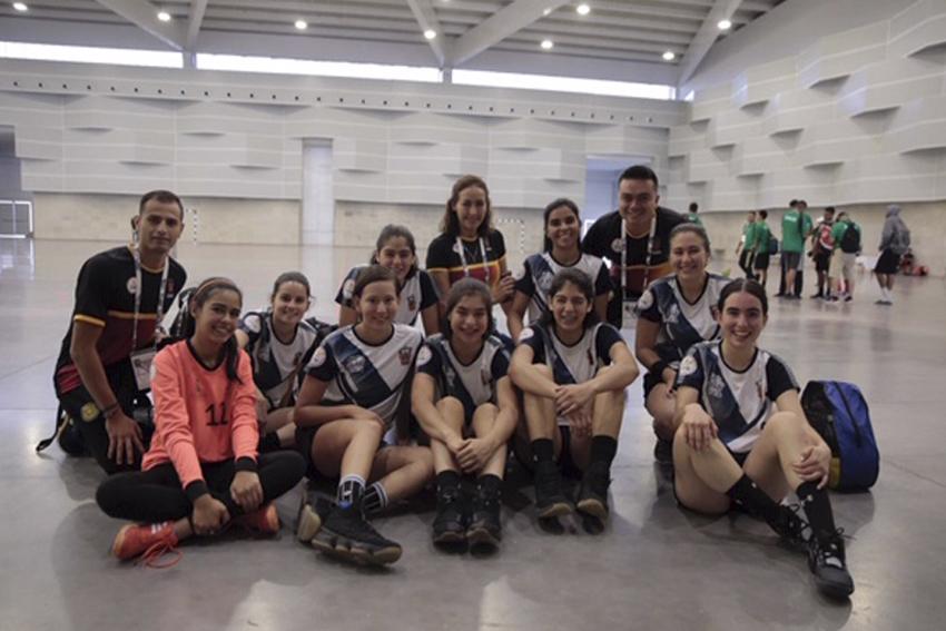 Atletas universitarios en los Juegos Deportivos Nacionales de la Educación Media Superior (JUDENEMS) que se llevan a cabo en la ciudad de Aguascalientes