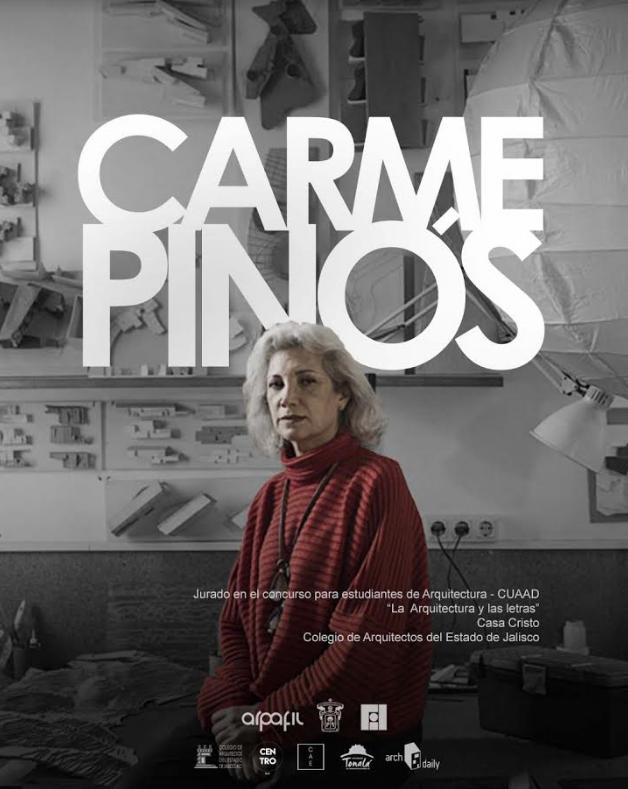 Cartel oficial con retrato de Carme Pinós