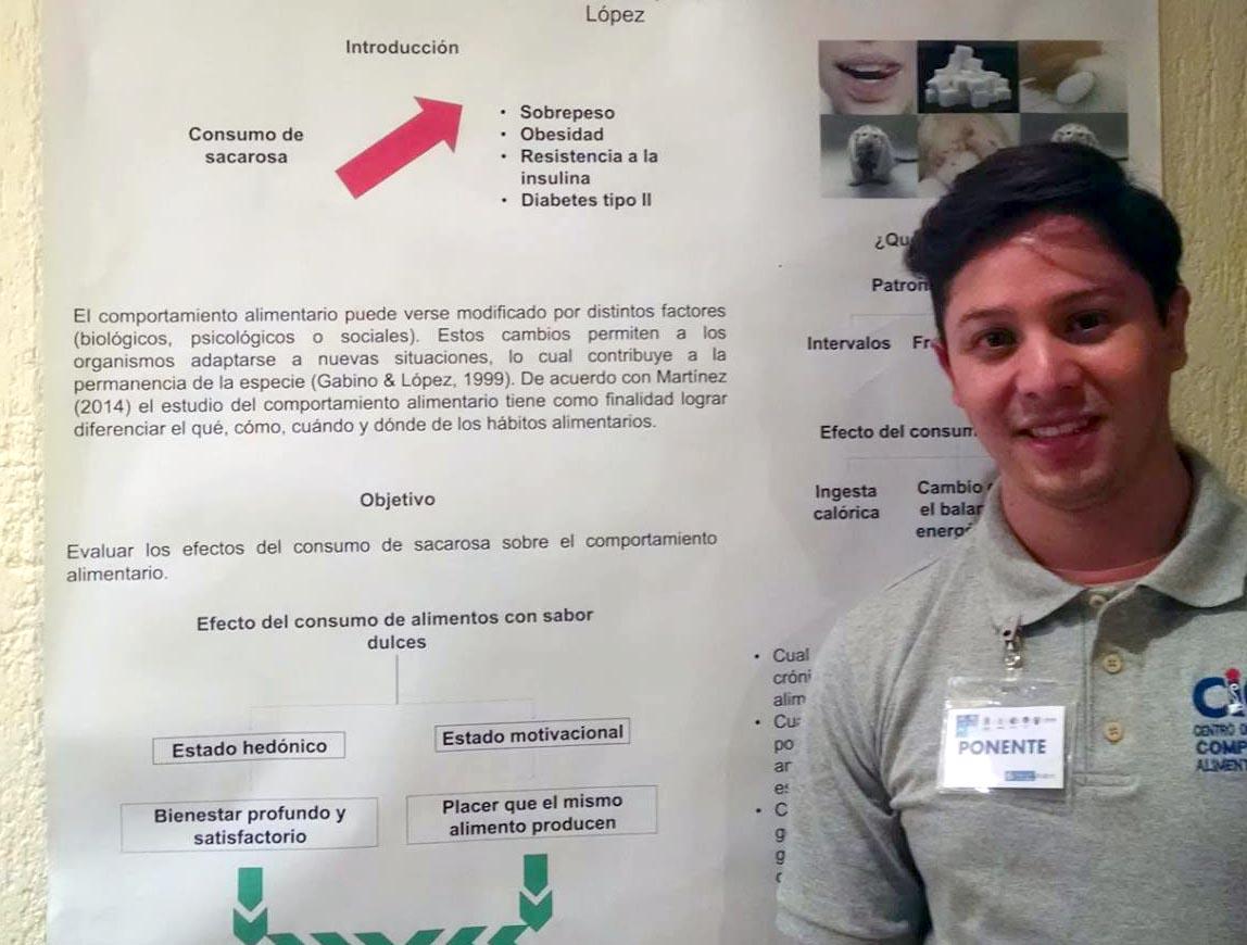Hugo Daniel Miguel Gómez, estudiante de la maestría en Ciencia del Comportamiento con orientación en Alimentación y Nutrición, del Centro Universitario del Sur.