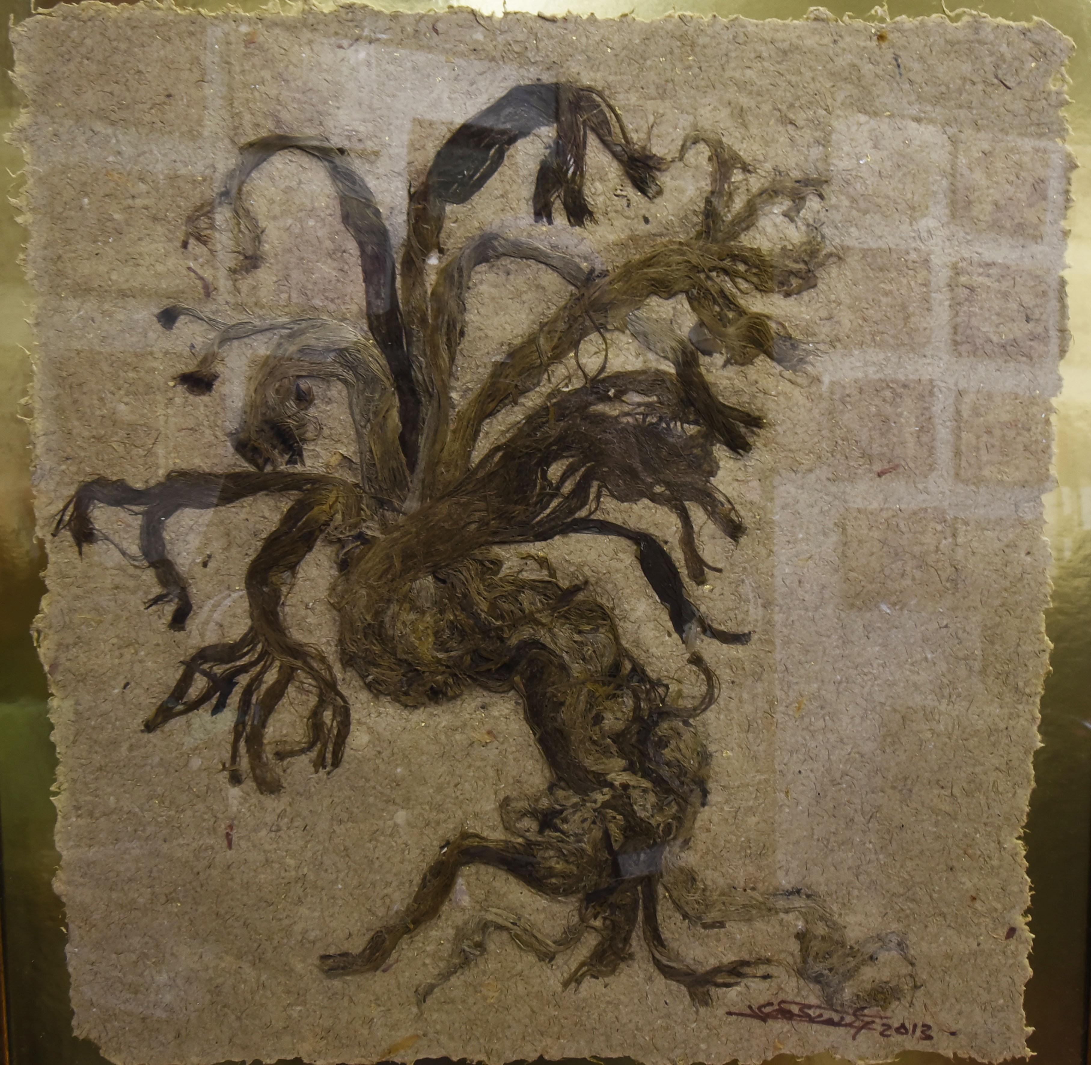 Piezas artísticas con papel de agave