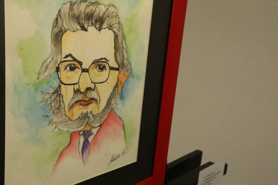 Dibujo retrato de Fernando del Paso