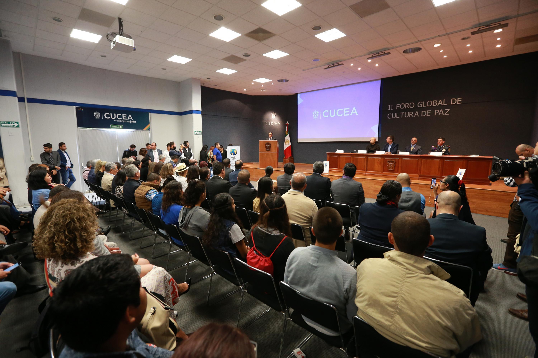 Inauguración del II Foro Global de Cultura de Paz, en CUCEA