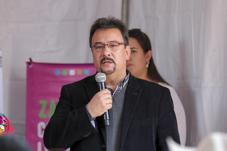 En su mensaje el Jefe de la UACI, doctor José Claudio Carrillo Navarro