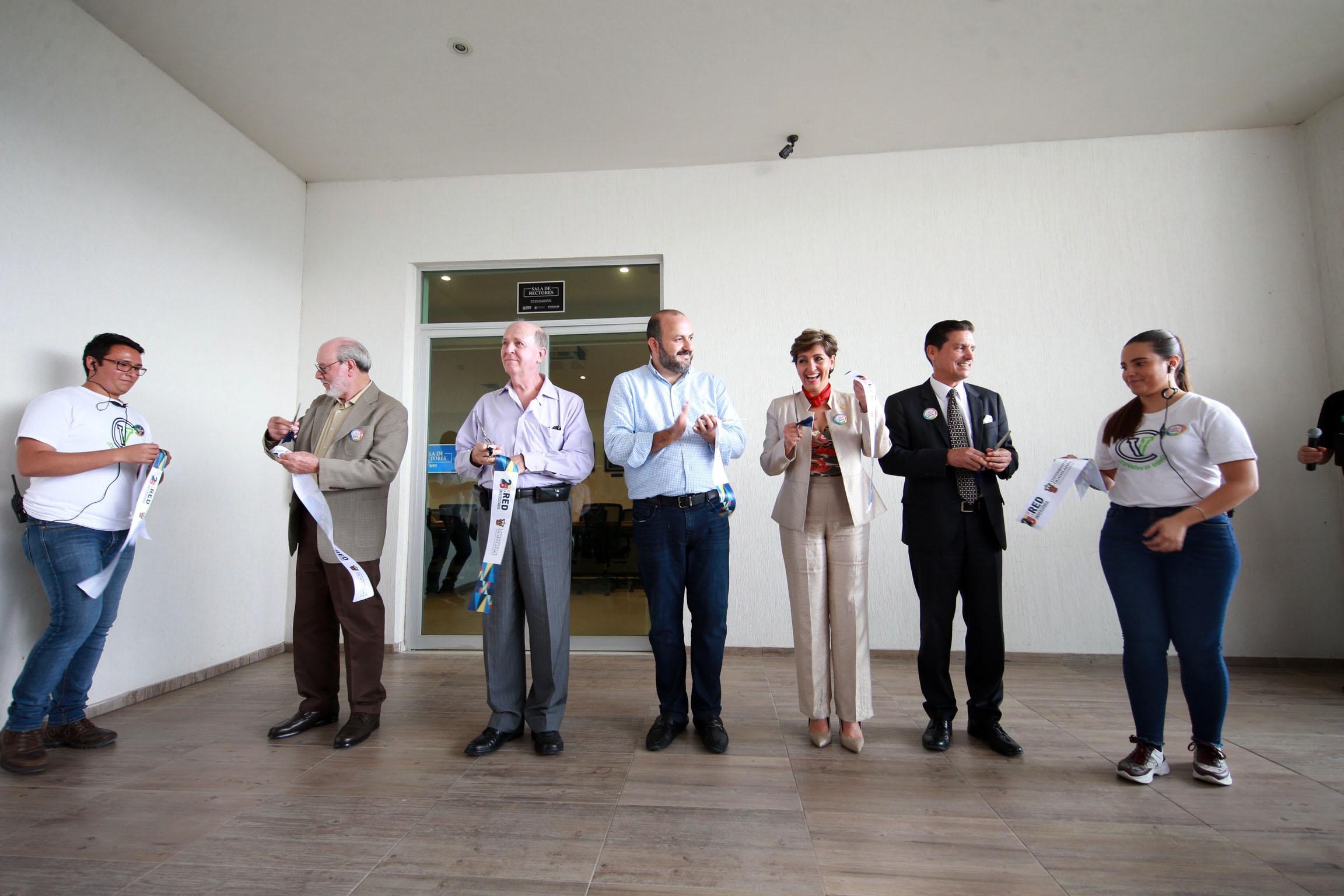 Inauguran sala de Ex rectores en CUValles