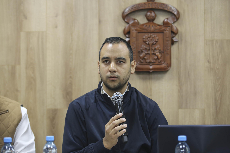 El dirigente saliente de la FEU, Jesús Medina Varela