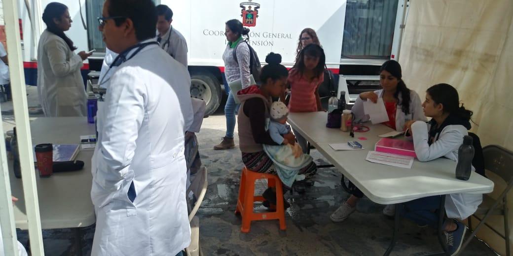Población indígena que vive en la Colonia 12 de Diciembre en Zapopan fue atendida en la Jornada de Salud Intercultural