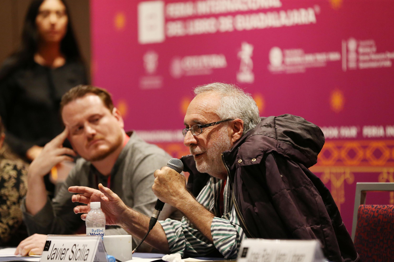 Javier Sicilia durante su participación