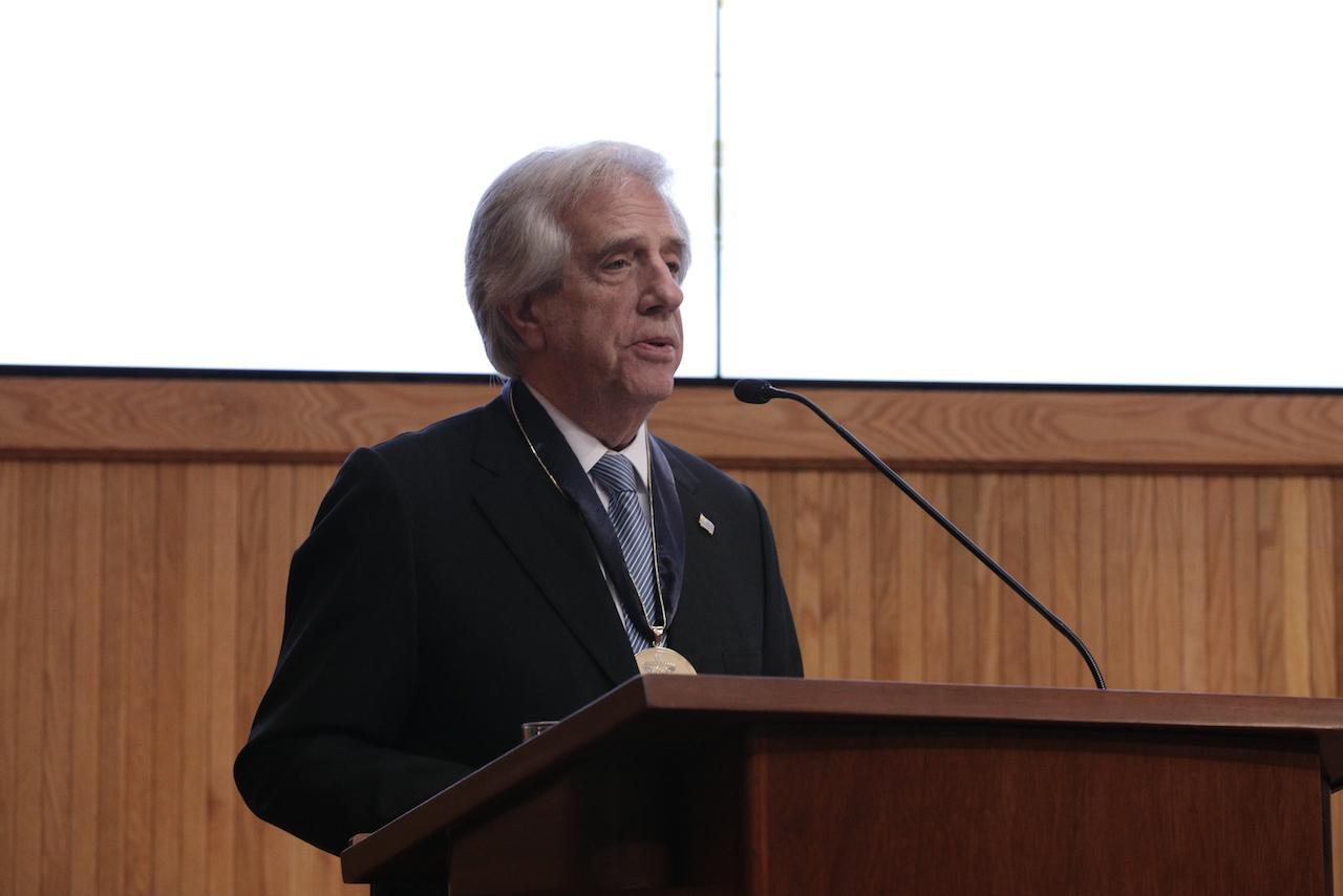 El presidente de la República Oriental del Uruguay, doctor Tabaré Ramón Vázquez Rosas hablo a los presentes