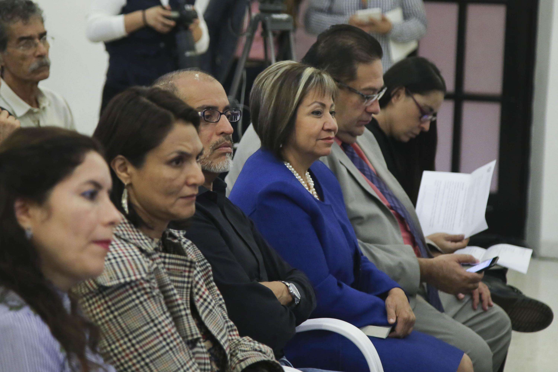 El publico asistente a la ceremonia de anuncio en el Museo de Las Artes