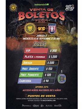 Venta de boletos de Leones Negros, jornada 8