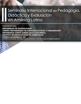 Cartel para anunciar el Seminario Internacional en Pedagogía, Didáctica y Evaluación en América Latina
