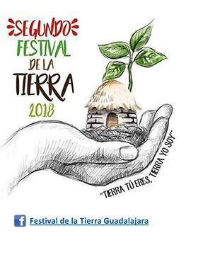 """Cartel informativo sobre el Segundo Festival de la Tierra 2018 """"Tierra tú eres, tierra yo soy"""""""