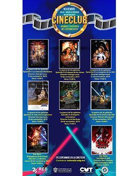 Ciclo de cine: Hacia el ascenso de skywalker a llevarse a cabo el  15, 19, 21, 25, 26, 27, 28 y 29 de noviembre.