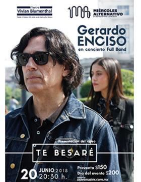 Cartel informativo y de invitación al concierto: Gerardo Enciso. A realizarse el 20 de junio, a las 20:30 horas, en el Teatro Vivian Blumenthal.