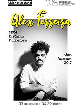 cartel con texto e imagen de Alex Ferreira