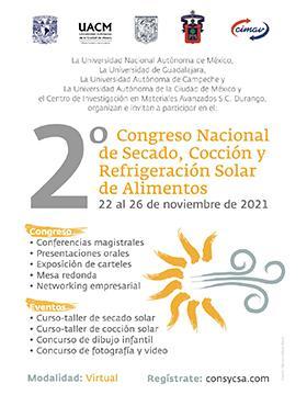 2do. Congreso de Secado y Cocción Solar de Alimentos