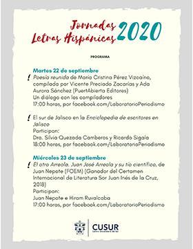 Jornadas de Letras Hispánicas 2020