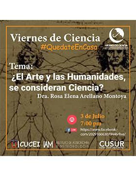 Conferencia: ¿El Arte y las Humanidades, se consideran Ciencia?