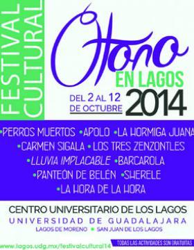 Cartel del Festival Cultural Otoño en Lagos 2014