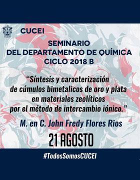 Cartel informativo. Presentara John Freedy Flores Ríos
