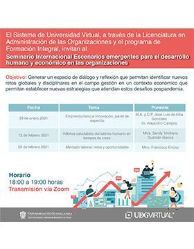 """Seminario internacional: """"Escenarios emergentes para el desarrollo humano y económico de las organizaciones"""""""