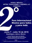 Cartel con texto del evento:Foro Internacional Música para todos y para todo
