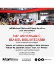 """Texto del evento: Nuevas herramientas tecnológicas de la Biblioteca Pública del Estado de Jalisco """"Juan José Arreola"""""""