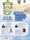 Cartel informativo y de invitación a la 1er Jornada de Actualización Teórico-Práctica para la carrera de Técnico Superior Universitario en Prótesis Dental. A realizarse el 25 y 26 de mayo, en el Auditorio Ramón Córdoba del CUCS.