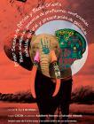 Cartel con texto y un elefante con dibujos en oreja y colmillo